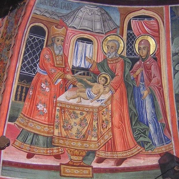икона праздника Обрезания Господня