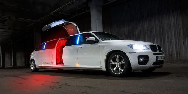 роскошный белый лимузин