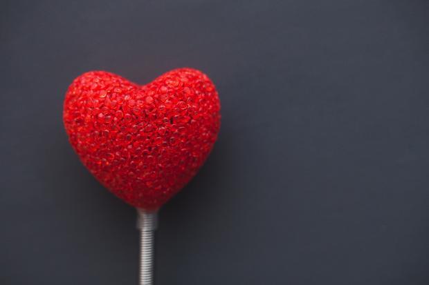 Игрушка в виде сердца