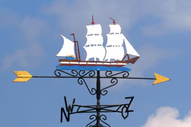 флюгер в виде кораблика