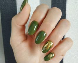 Маникюр зеленый с золотым: стильные идеи нейл-арта для торжественных случаев