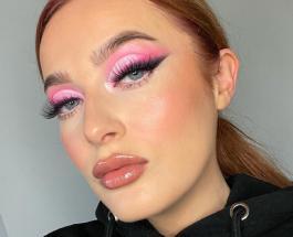 Искусство макияжа: девушка создает оптические иллюзии с помощью косметики