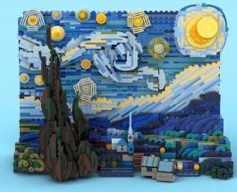 «Звездная ночь» Ван Гога из LEGO: новый набор компании поможет собрать 3D модель картины