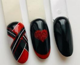 Маникюр красный с черным: стильные идеи нейл-дизайна для элегантных леди