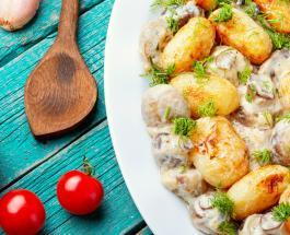 Что приготовить на ужин: рецепт картофеля запеченного с грибами в горчичном соусе