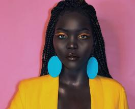 Ньяким Гатвеч в красивых платьях: 10 ярких фото самой темнокожей в мире модели