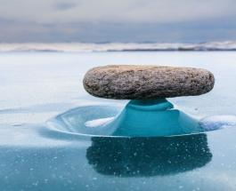 Фото редкого природного явления на озере Байкал