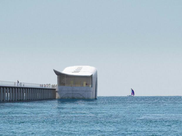 здание в форме кита