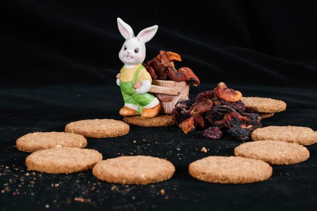 фигурка кролика в композиции с печеньем