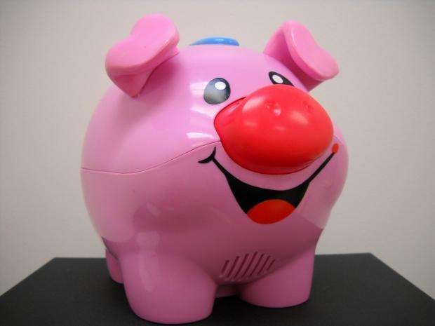 игрушка розовая улыбающаяся свинка