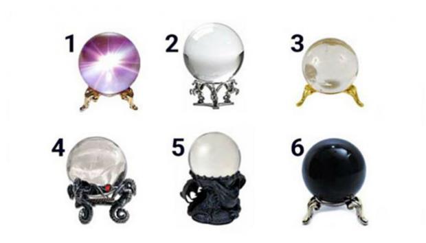 изображения хрустальных шаров для визуального теста