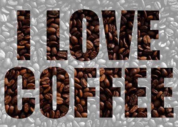 надпись на английском языке я люблю кофе
