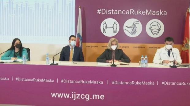 Министр здравоохранения Черногории Елена Боровинич-Божович на пресс-конференции