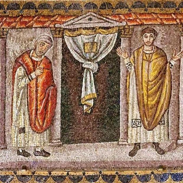 церковная мозаика к Неделе о мытаре и фарисее