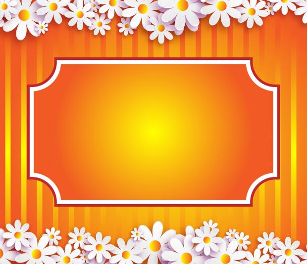 шаблон с цветами для поздравительной открытки
