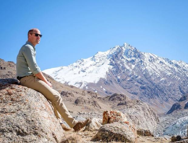 Принц Уильям в горах
