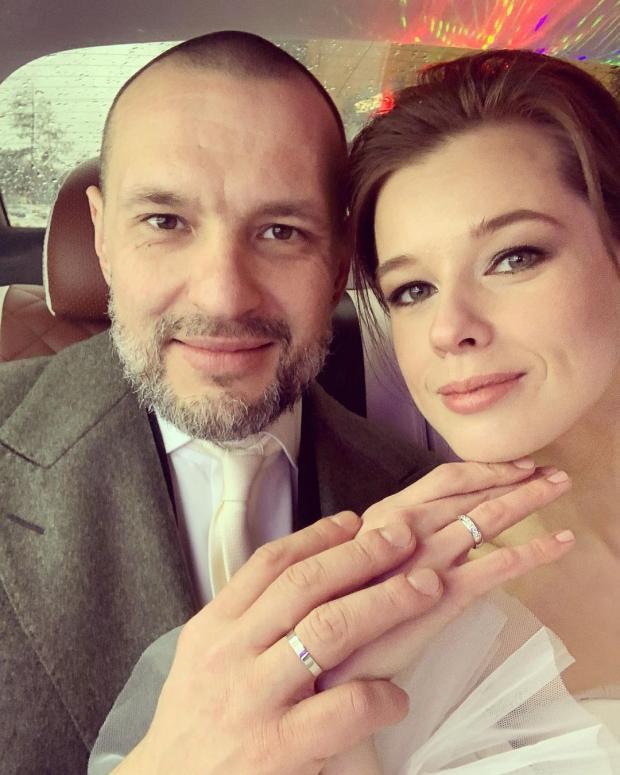 Екатерина Шпица с мужем