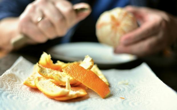 кожура апельсина нарезанная
