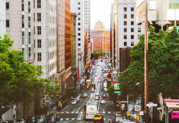 улица в американском городе Сан-Франциско