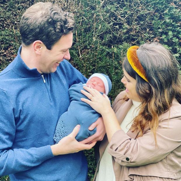 Принцесса Евгения и Джек Бруксбэнк с сыном