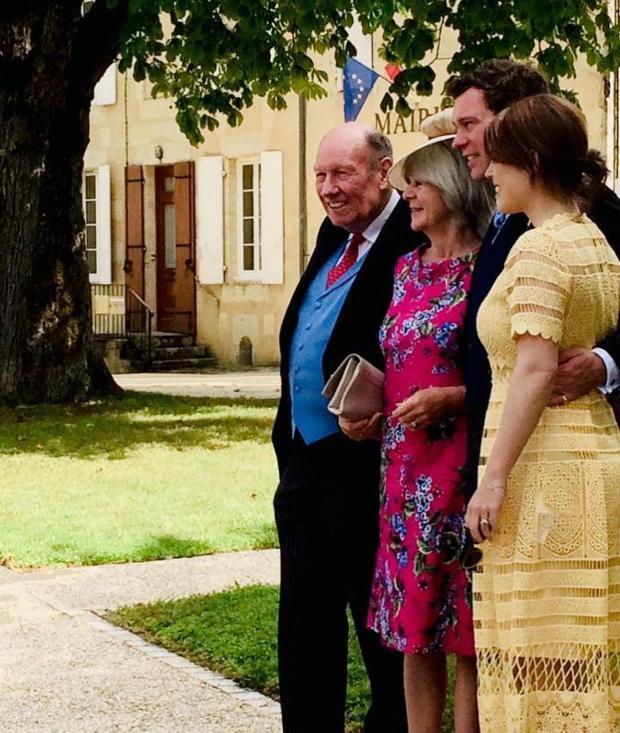 Принцесса Евгения с Джеком Бруксбэнком и родителями мужа