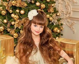 9-летняя Настя Князева с макияжем и прической выглядит старше своего возраста
