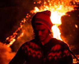 Выступление на фоне извергающегося вулкана: впечатляющее видео от исландской рок-группы