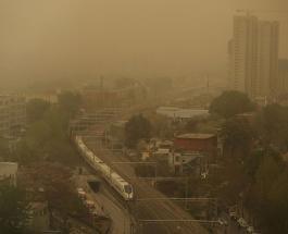 На Пекин обрушилась третья за пять недель песчаная буря