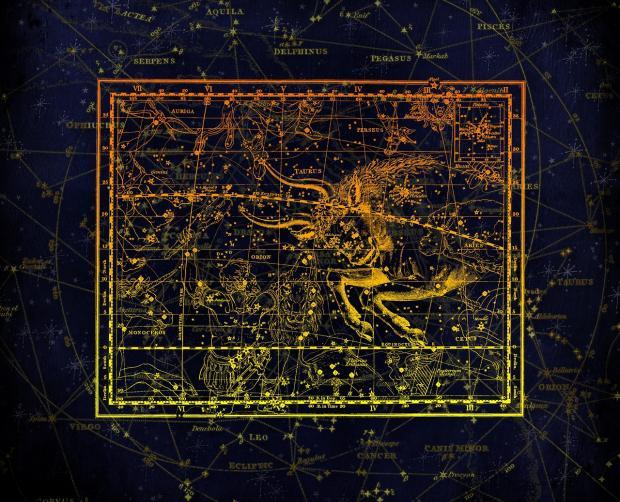 карта звездного неба с Тельцом