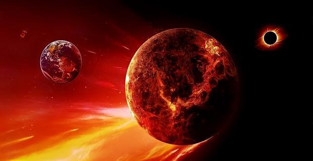 планета Венера в небе
