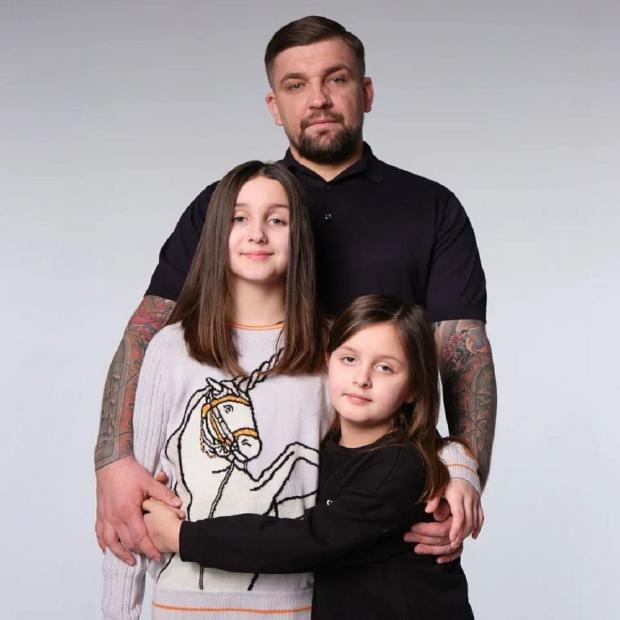 Василий Вакуленко с детьми