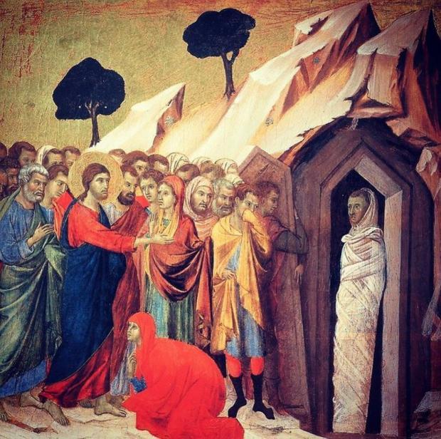 икона воскрешения праведного Лазаря