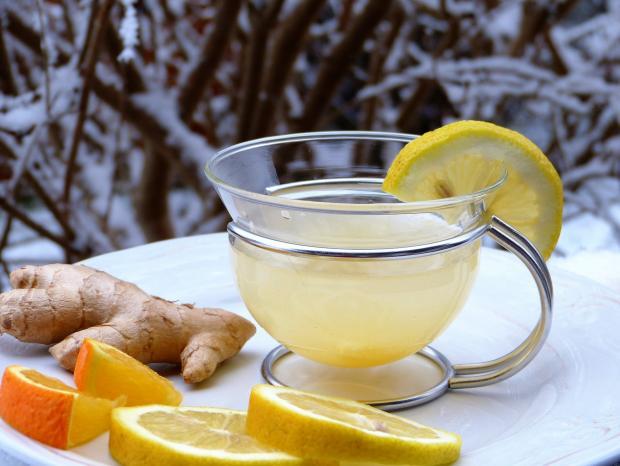 корень имбиря, апельсин, лимон