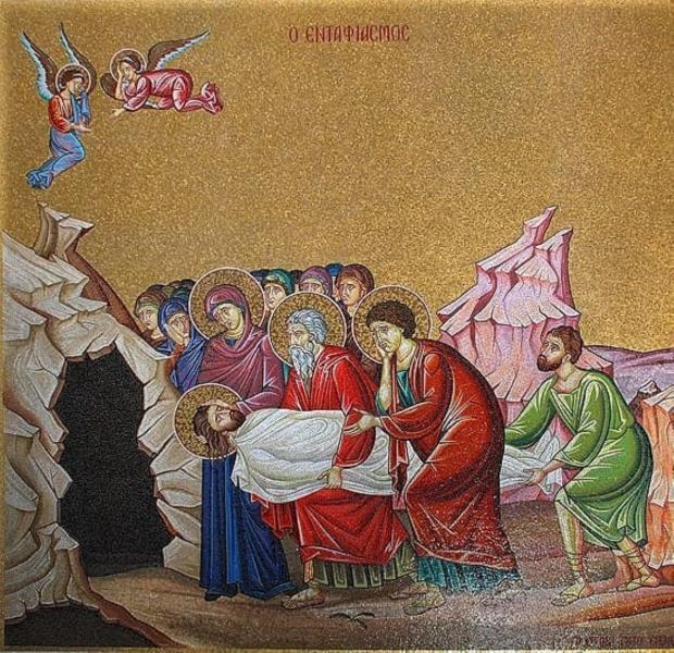 икона Положение Христа во гроб