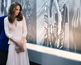 Кейт Миддлтон в элегантном образе посетила лондонский музей Виктории и Альберта