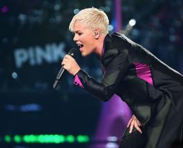 Пинк и ее 9-летняя дочь исполнили акробатический номер в воздухе на Billboard Music Awards