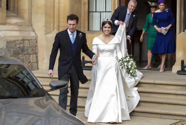 Принцесса Евгения и Джек Бруксбэнк на свадьбе