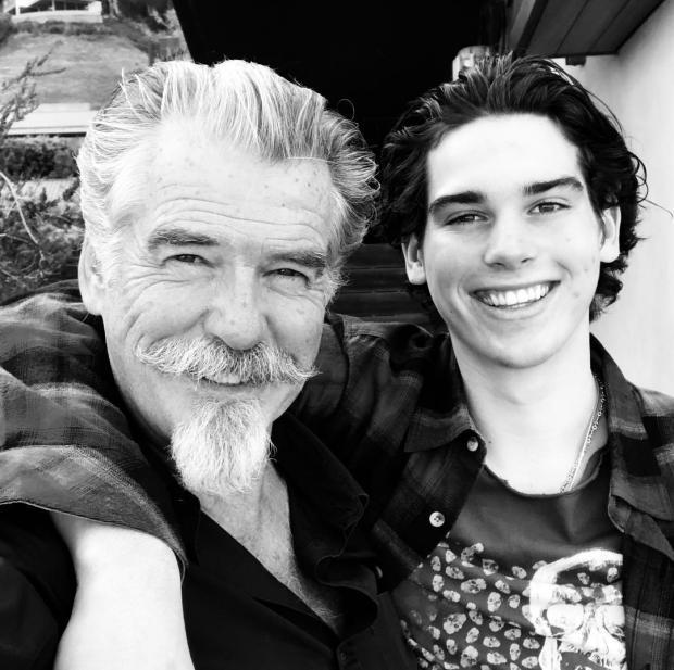 Пирс Броснан с сыном