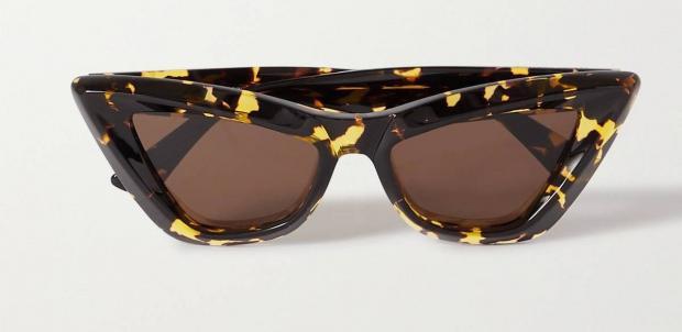 солнцезащитные очки в оправе кошачий глаз