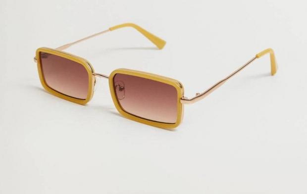 солнцезащитные очки в объемной оправе прямоугольные