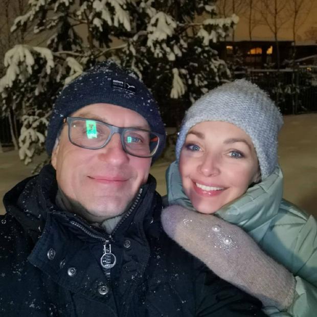 Наталия Антонова с мужем