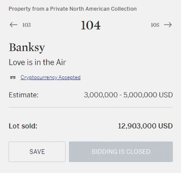 цена картины Бэнкси