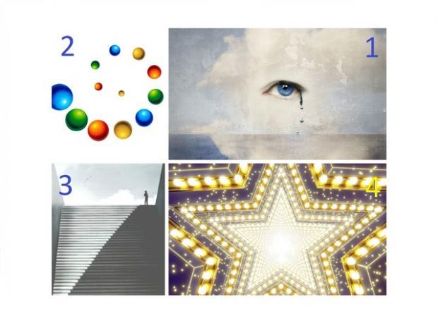 четыре картинки визуального теста