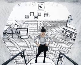 Оригинальный дизайн кафе в России заставляет клиентов чувствовать себя как в книге-раскраске