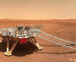 Китайский марсоход Zhurong поделился новыми кадрами с Красной планеты