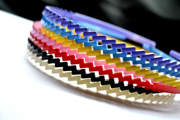 разноцветные ободки для волос