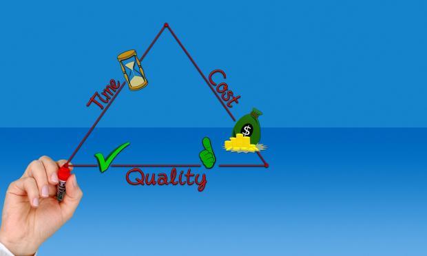 нарисован треугольник главных потребностей