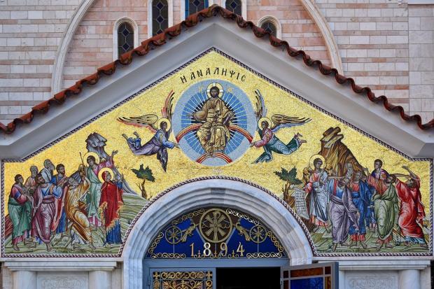 церковь разрисована фресками Вознесения Господня