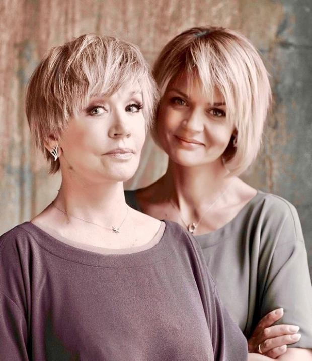 Юлия Меньшова с мамой