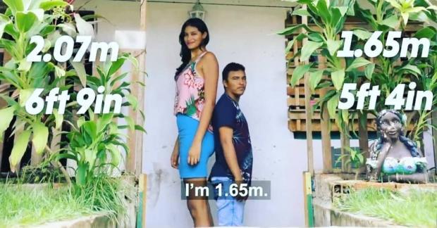высокая бразильянка с мужем